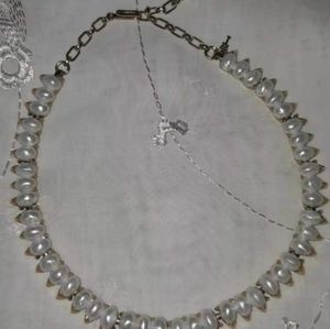 Vintage Signed Trifari Pearl Necklace